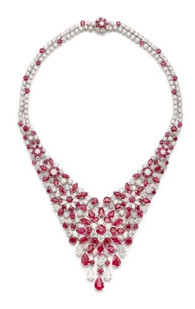 View 2. Thumbnail of Lot 1611. GRAFF | RUBY AND DIAMOND NECKLACE | 格拉夫 | 紅寶石 配 鑽石 項鏈﹙ 紅寶石及鑽石共重約60.30及50.57卡拉﹚.