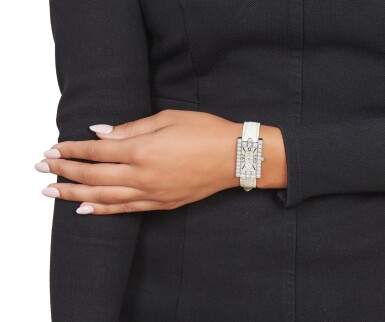 View 3. Thumbnail of Lot 336. Harry Winston | Mother-of-Pearl and Diamond 'Avenue' Wristwatch.