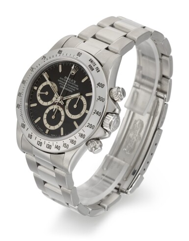 View 3. Thumbnail of Lot 65. ROLEX   DAYTONA INVERTED SIX, REFERENCE 16520, STAINLESS STEEL CHRONOGRAPH WRISTWATCH WITH BRACELET, CIRCA 1991.