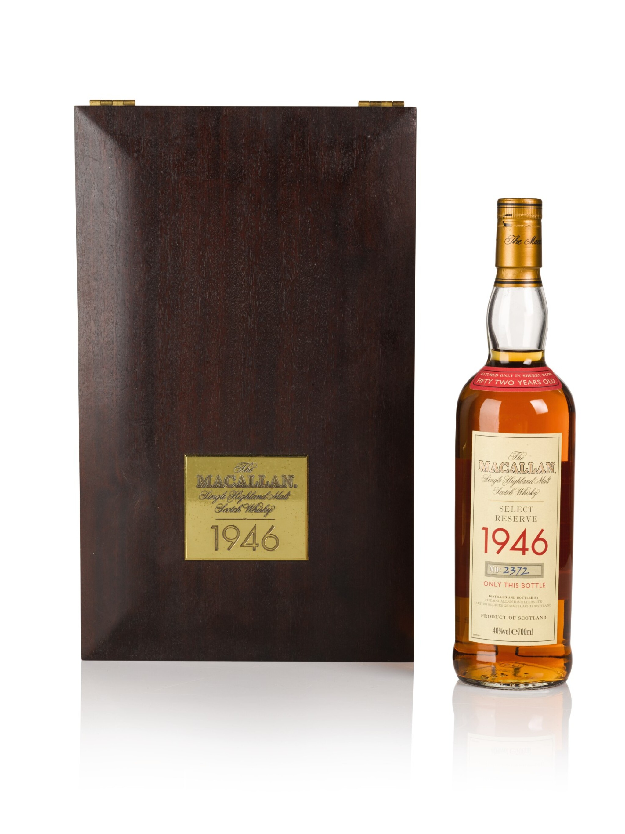 View full screen - View 1 of Lot 18. The Macallan Select Reserve 52 Years Old 40.0 abv 1946 .