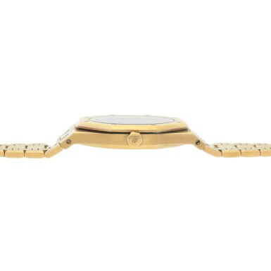 View 5. Thumbnail of Lot 375. ROYAL OAK JUBILEE, REF 14802BA.OO.0944BA.01 LIMITED EDITION YELLOW GOLD WRISTWATCH WITH DATE AND BRACELET CIRCA 1992.
