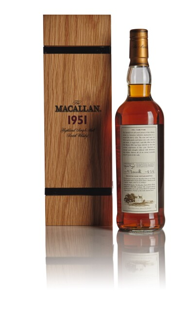 View 2. Thumbnail of Lot 124. THE MACALLAN FINE & RARE 51 YEAR OLD 52.3 ABV 1951.