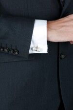 HEMMERLE | PAIR OF CULTURED PEARL AND DIAMOND CUFFLINKS