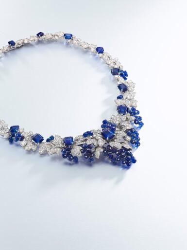 View 3. Thumbnail of Lot 1649. GRAFF | SAPPHIRE AND DIAMOND NECKLACE格拉夫 | 藍寶石 配 鑽石 項鏈  (藍寶石及鑽石共重約142.06及33.96卡拉 ).