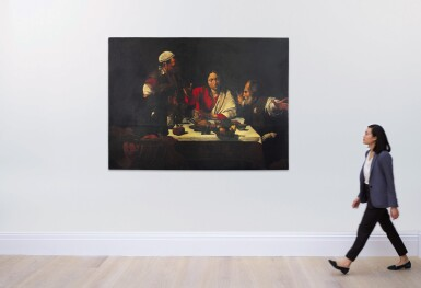 View 3. Thumbnail of Lot 32. Sold Without Reserve   AFTER MICHELANGELO MERISI, CALLED CARAVAGGIO   SUPPER AT EMMAUS .