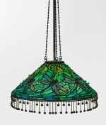 "TIFFANY STUDIOS | A RARE ""SWIRLING DRAGONFLY"" CHANDELIER"
