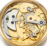 BREGUET | A UNIQUE SOUSCRIPTION SET OF TWO PINK GOLD AND PLATINUM WATCHES, COMPRISING OF A MINUTE REPEATING PERPETUAL CALENDAR WRISTWATCH WITH MOON-PHASES AND LEAP YEAR INDICATION AND A PERPÉTUELLE WATCH WITH MOON-PHASES, DATE AND POWER RESERVE INDICATION  CIRCA 1990 NO. 1
