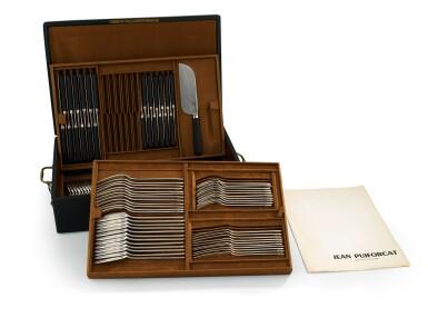 A SILVER 111-PIECE FLATWARE, JEAN PUIFORCAT, PARIS, CIRCA 1934 | MÉNAGÈRE DE 111 PIÈCES EN ARGENT, PAR JEAN PUIFORCAT, PARIS, VERS 1934