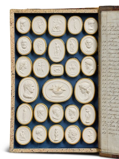 View 4. Thumbnail of Lot 42. A COLLECTION OF GRAND TOUR PLASTER INTAGLIOS BY PIETRO PAOLETTI, ROME, EARLY 19TH CENTURY.
