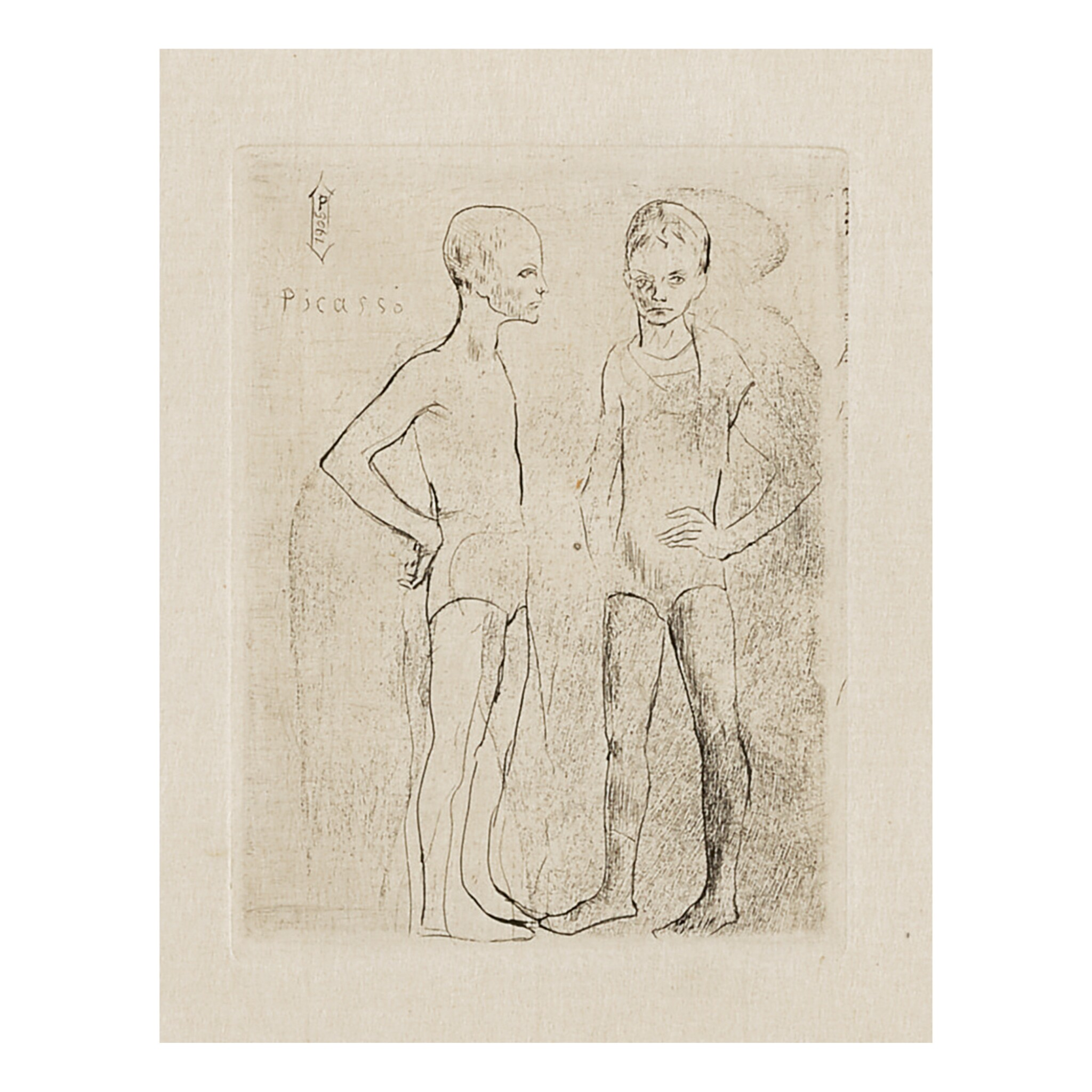 View full screen - View 1 of Lot 145.  PABLO PICASSO | LES DEUX SALTIMBANQUES (B. 5; BA. 6).