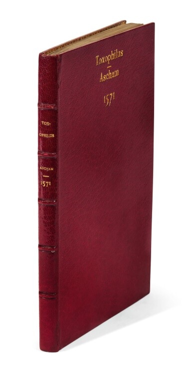 Ascham, Toxophilus, London, 1571, modern red morocco