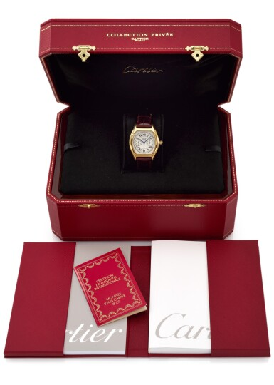 TORTUE MONOPOUSSOIR, REFERENCE 2356 YELLOW GOLD MONOPUSHER CHRONOGRAPH WRISTWATCH (CRONOGRAFO MONOPULSANTE 'A TORTUE' IN ORO GIALLO) CIRCA 2002 | CARTIER