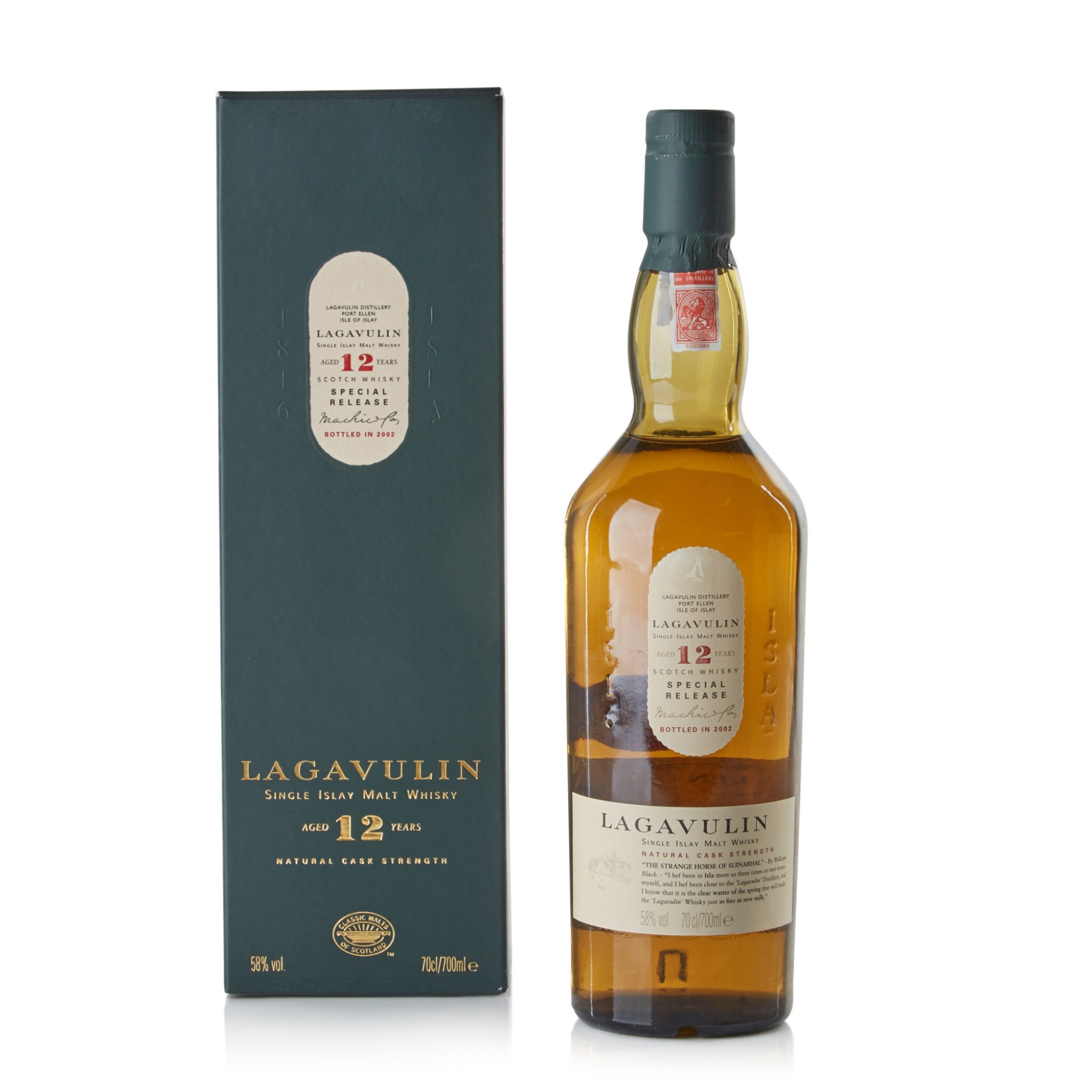 View full screen - View 1 of Lot 114. Lagavulin 12 Year Old 2002 Special Release 58.0 abv NV.