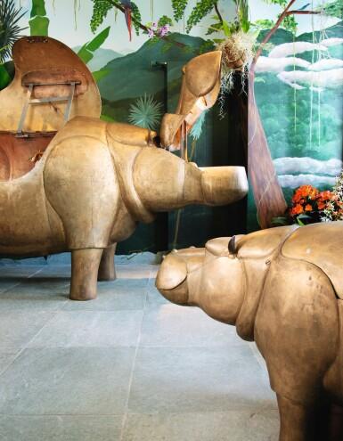 View 2. Thumbnail of Lot 115. FRANÇOIS-XAVIER LALANNE | UNIQUE FAMILLE HIPPOPOTAMES  [FAMILLE HIPPOPOTAMES, PIÈCE UNIQUE].