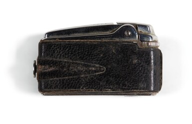 View 2. Thumbnail of Lot 13. THE BEATLES   Ronson cigarette lighter; Petri Half 7 Camera & Solid State DC3 Flash; leather writing case & small case.