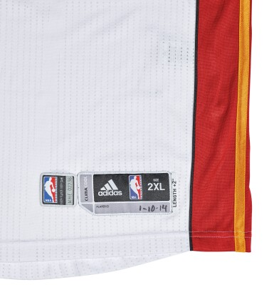 "View 4. Thumbnail of Lot 1. LeBron James ""King James"" Game Worn 2013-2014 Season Jersey."