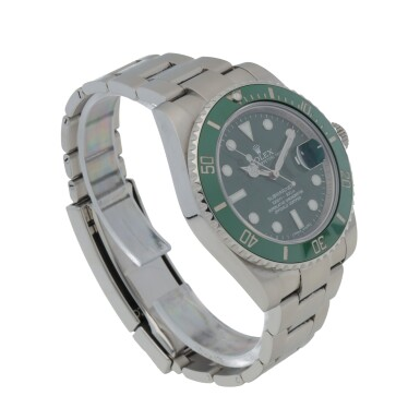 View 3. Thumbnail of Lot 341. 'HULK' SUBMARINER, REF 116610LV STAINLESS STEEL WRISTWATCH WITH DATE AND BRACELET CIRCA 2017.