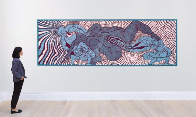 View 3. Thumbnail of Lot 223. JUDY CHICAGO | BIRTH TRINITY QUILT .