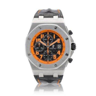 """View 1. Thumbnail of Lot 43. Royal Oak Offshore """"Volcano"""" Chronograph reference 26170ST.00.D101CR.01 A stainless steel automatic chronograph wristwatch with date, circa 2010."""