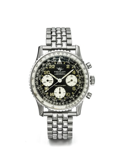 BREITLING | NAVITIMER COSMONAUTE REF 809 A STAINLESS STEEL CHRONOGRAPH WRISTWATCH WITH 24 HOUR DIAL REGISTERS AND BRACELET CIRCA 1967