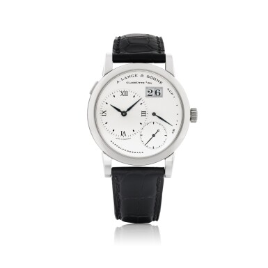 A. LANGE & SÖHNE | LANGE 1, REF 101.026 STAINLESS STEEL WRISTWATCH WITH DATE AND POWER RESERVE INDICATION CIRCA 1998