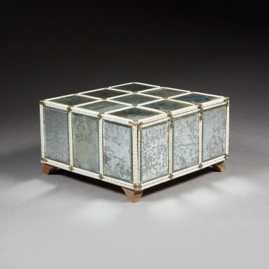 View 3. Thumbnail of Lot 137. A LARGE INDIAN MIRRORED AND ENGRAVED IVORY CASKET.