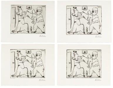 View 1. Thumbnail of Lot 174. PABLO PICASSO   FOUR WORKS: HISTOIRE DE SABARTÉS ET DE SA VOISINE: LES BANDERILLES (BA. 968).