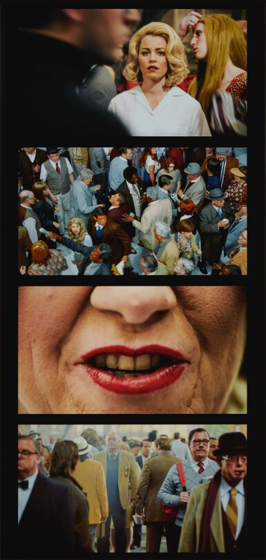 View 1. Thumbnail of Lot 63. Face in the Crowd Film Strip #2.