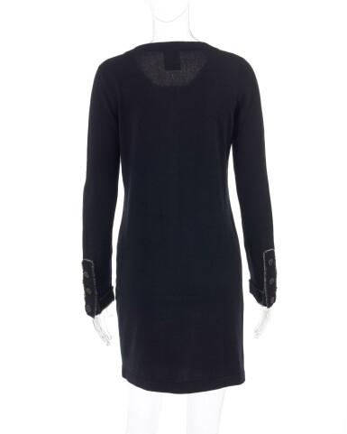 View 3. Thumbnail of Lot 174. Black cashmere mini dress.