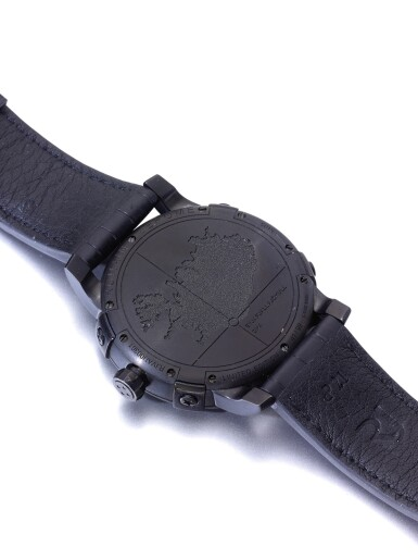 ROMAIN JEROME | EYJAFJALLAJÖKULL A LIMITED EDITION PVD COATED STAINLESS STEEL AUTOMATIC WRISTWATCH CIRCA 2010