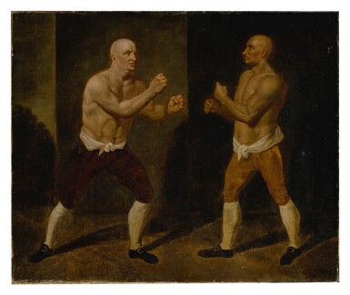 View 2. Thumbnail of Lot 120. The set-to: the match between John Broughton and George Stevenson, 1741.