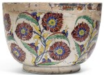 AN EXCEPTIONALLY LARGE KUTAHYA POLYCHROME POTTERY BOWL, TURKEY, MID-18TH CENTURY