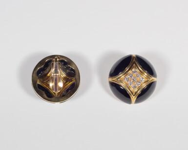 View 4. Thumbnail of Lot 17. Black Onyx and Diamond .
