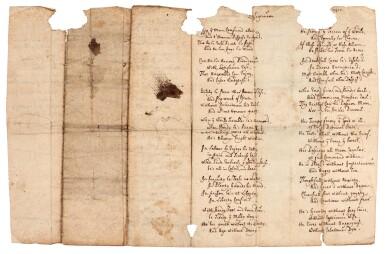 DEFOE | Autograph manuscript poem, 'Resignation', 1708