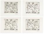 PABLO PICASSO   FOUR WORKS: HISTOIRE DE SABARTÉS ET DE SA VOISINE: LES BANDERILLES (BA. 968)