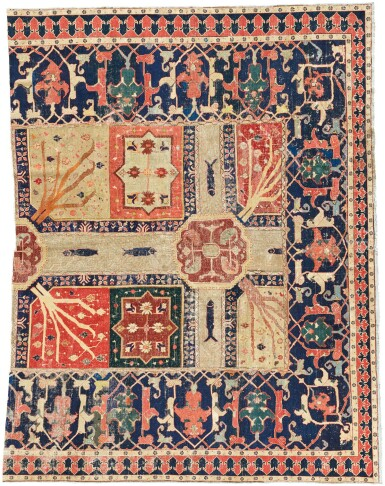 KURDISH, AZERBAIJAN | A Garden (Chahar Bagh) fragment, 18th century