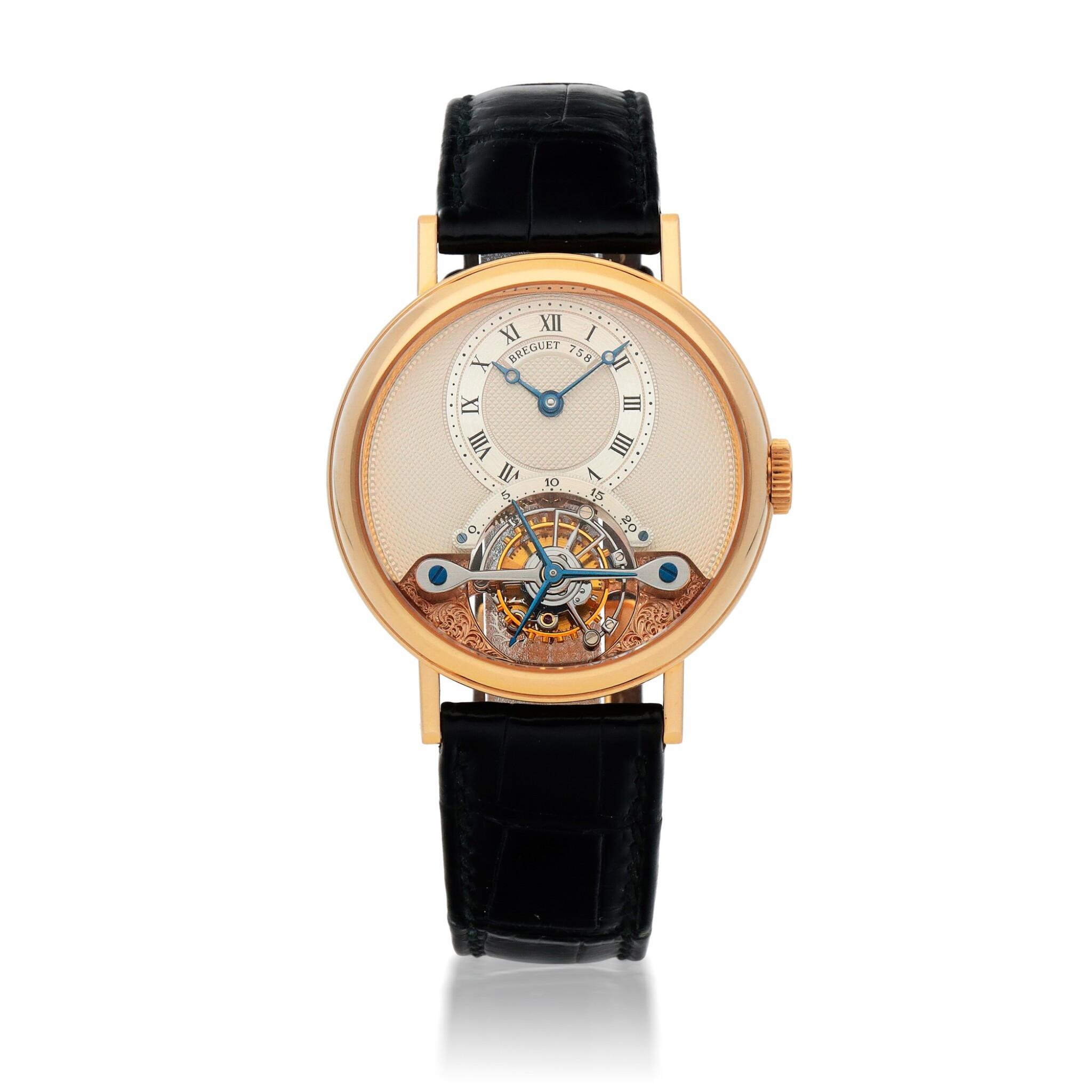 View full screen - View 1 of Lot 444. Classique, Ref. 3350BR/12/286 Pink gold tourbillon wristwatch Made in 1996 | 寶璣 3350BR/12/286型號「Classique」粉紅金陀飛輪腕錶,1996年製.
