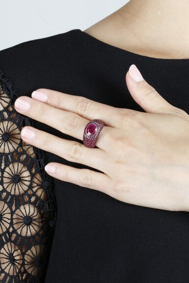 View 4. Thumbnail of Lot 307. HEMMERLE   RUBY RING.