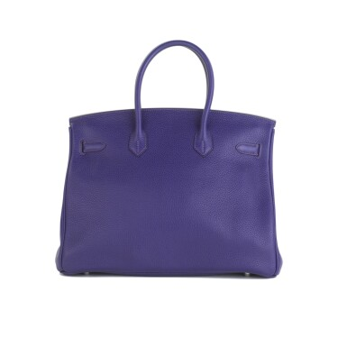 View 3. Thumbnail of Lot 717. HERMÈS | ULTRAVIOLET BIRKIN 35 IN TAURILLON CLEMENCE LEATHER WITH PALLADIUM HARDWARE, 2010.