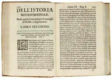 Cervantes, Istoria settentrionale di Persile e Sigismonda, Venice, 1626, contemporary limp vellum