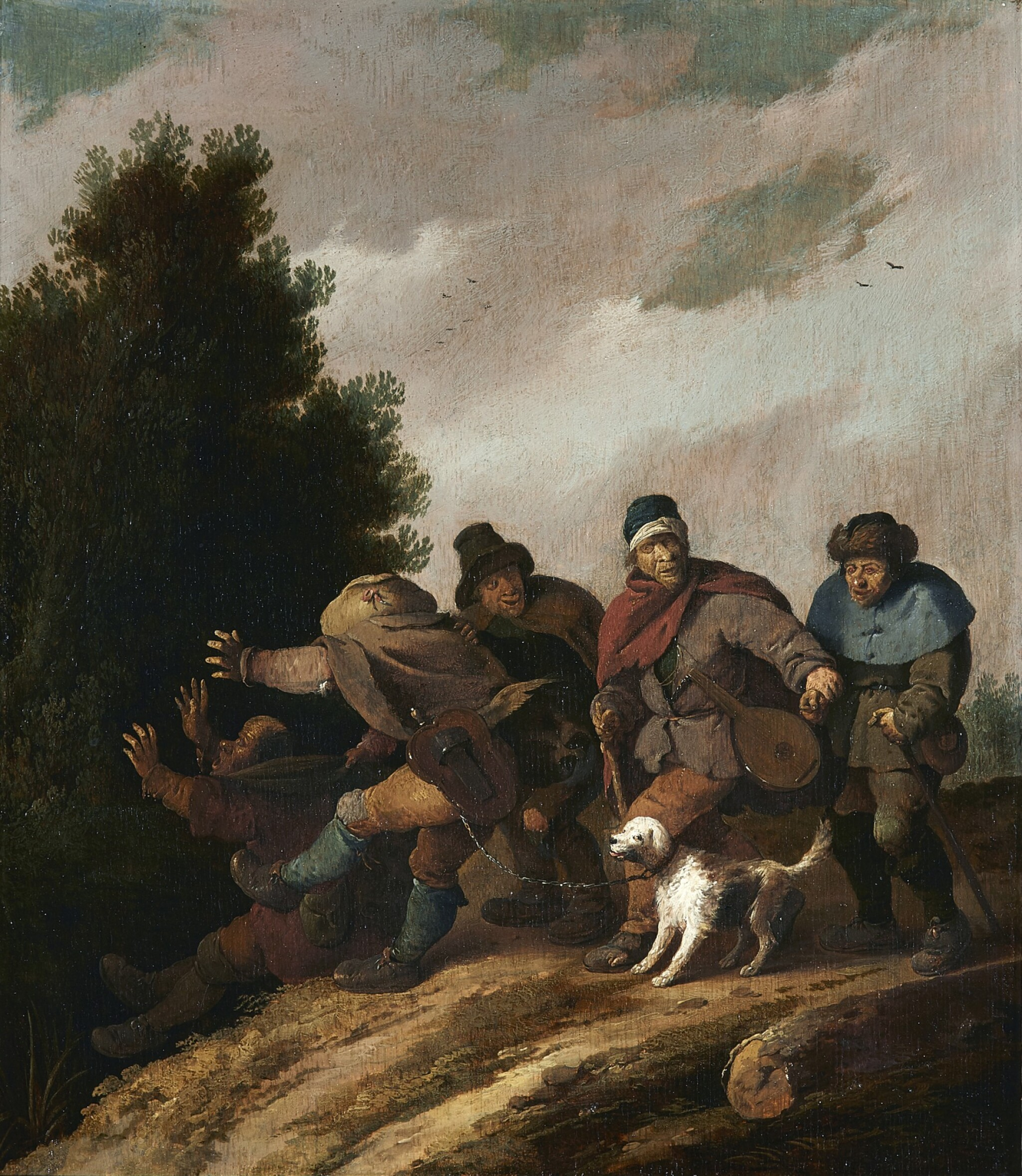 View full screen - View 1 of Lot 281. PIETER DE BLOOT | PARABLE OF THE BLIND LEADING THE BLIND.