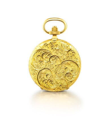 View 3. Thumbnail of Lot 1113. PIAGET | A YELLOW GOLD HUNTING CASE KEYLESS WATCH, CIRCA 1970.