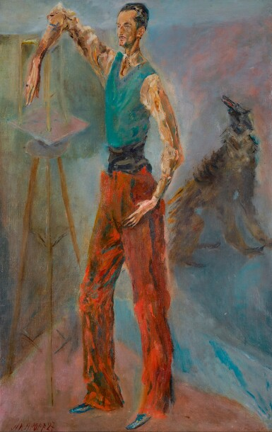ALEXIS PAUL ARAPOFF | Self-Portrait with Dog