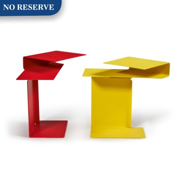 """Pair of """"Diana E"""" Side Tables"""