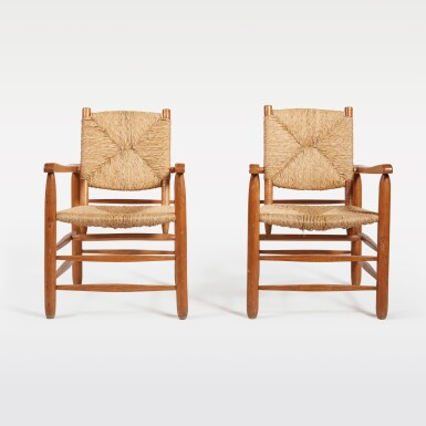 View 2. Thumbnail of Lot 83. Pair of Armchairs, Model No. 21.