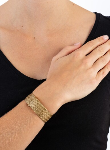 View 5. Thumbnail of Lot 68. Montre bracelet de dame or | Gold lady's bracelet watch.