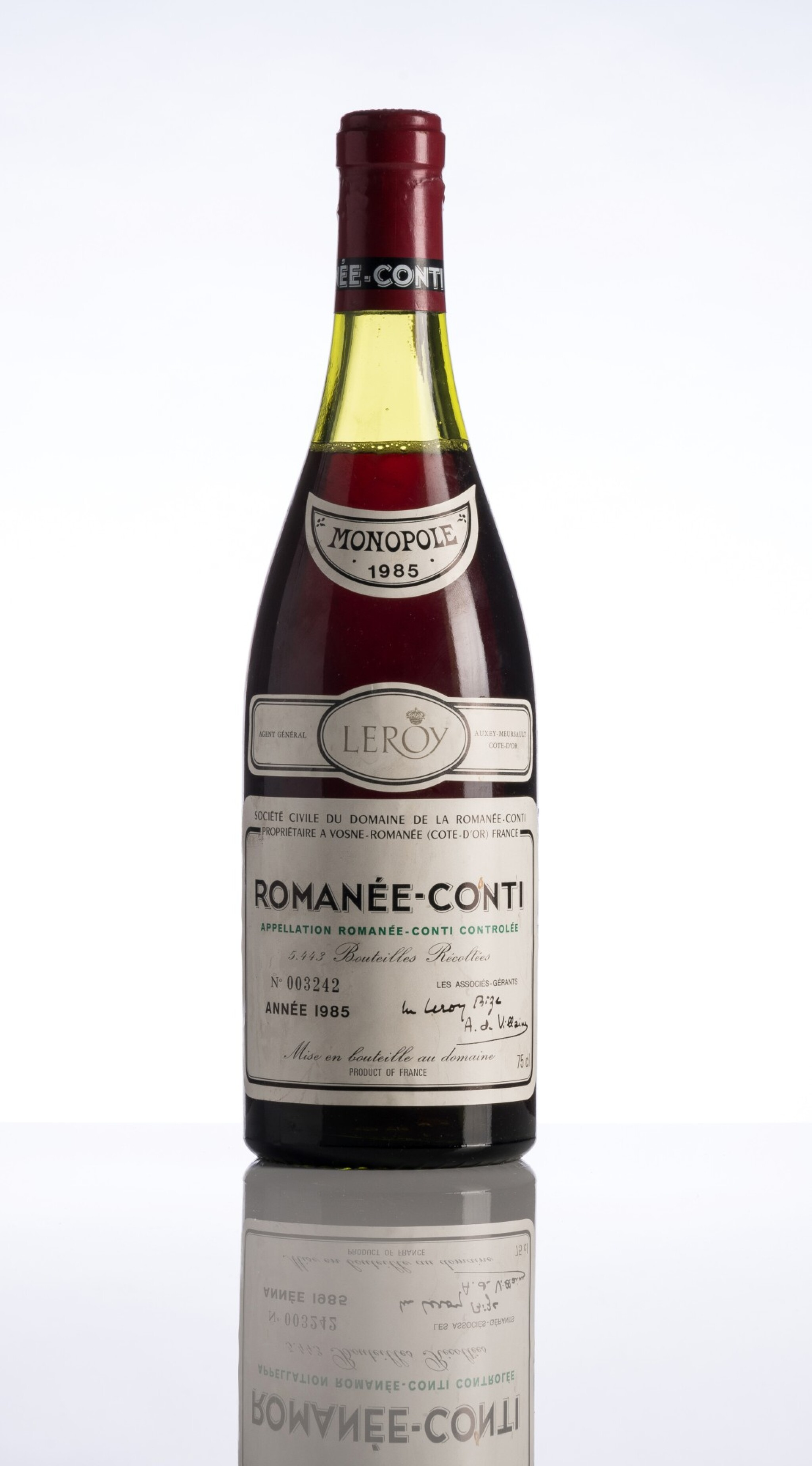 View full screen - View 1 of Lot 121. Romanée Conti 1985 Domaine de la Romanée-Conti (1 BT).