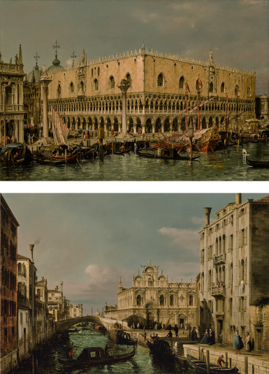 FRANCESCO ZANIN | VENICE, VIEW OF THE PALAZZO DUCALE; VENICE, VIEW OF THE...