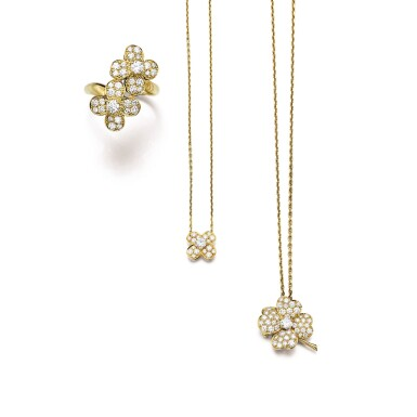 View 1. Thumbnail of Lot 1606. VAN CLEEF & ARPELS | GROUP OF DIAMOND JEWELLERY   梵克雅寶 | 鑽石珠寶首飾.