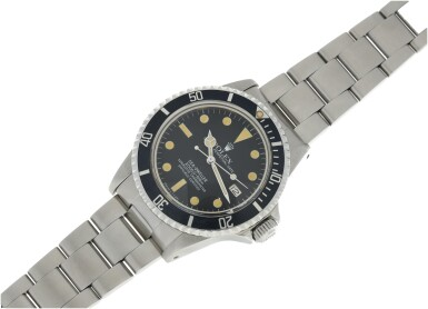 View 4. Thumbnail of Lot 110. ROLEX   REFERENCE 1665 SEA-DWELLER 'GREAT WHITE' A STAINLESS STEEL AUTOMATIC WRISTWATCH WITH DATE AND BRACELET, CIRCA 1980.